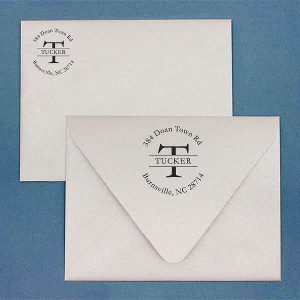 Letter Return Address Stamp Imprint Example on Paper