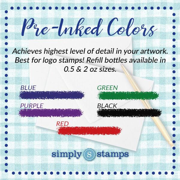 Pre-Inked Stamp Colors