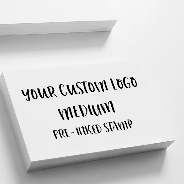 Your Medium Logo Custom Stamp