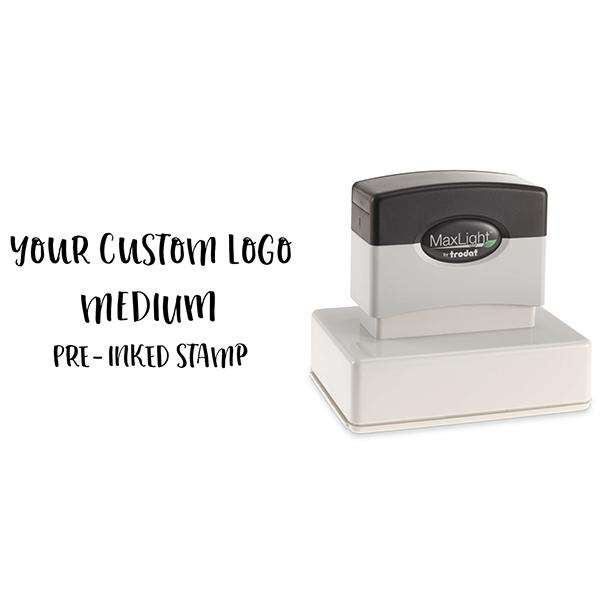 Your Medium Logo Custom Pre-inked Stamp Body and Design