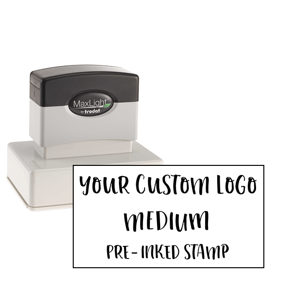 Your Medium Logo Custom Pre-inked Stamp