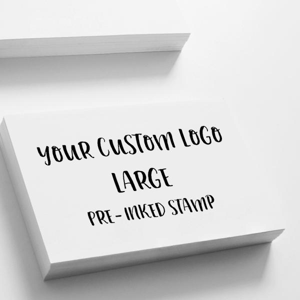 Your Large Logo Custom Stamp