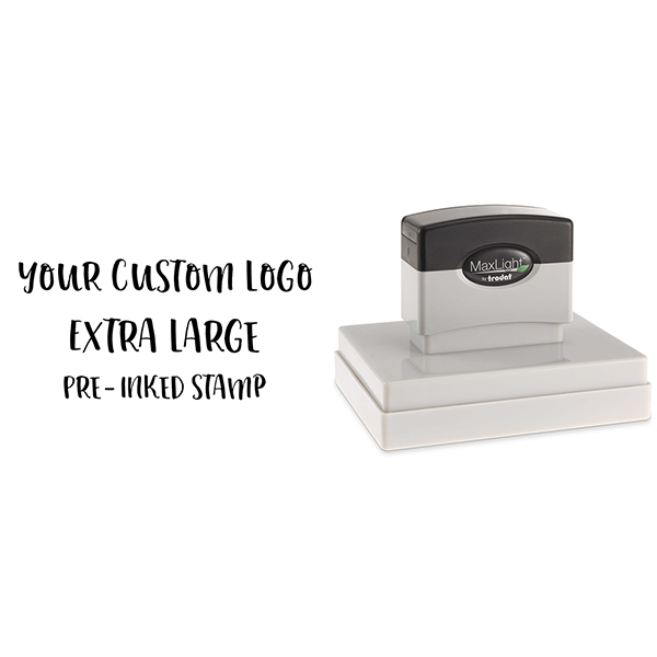 Your Extra Large Custom Logo Pre-inked Stamp Body and Design