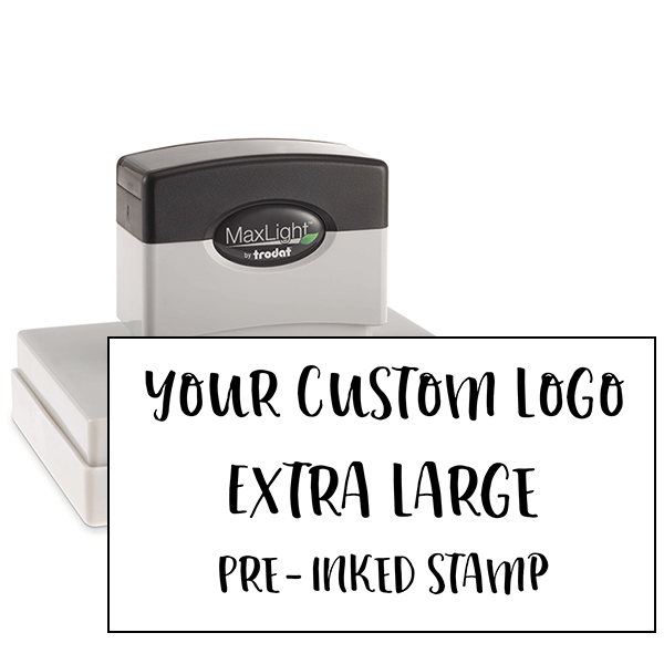 Your Extra Large Custom Logo Pre-inked Stamp