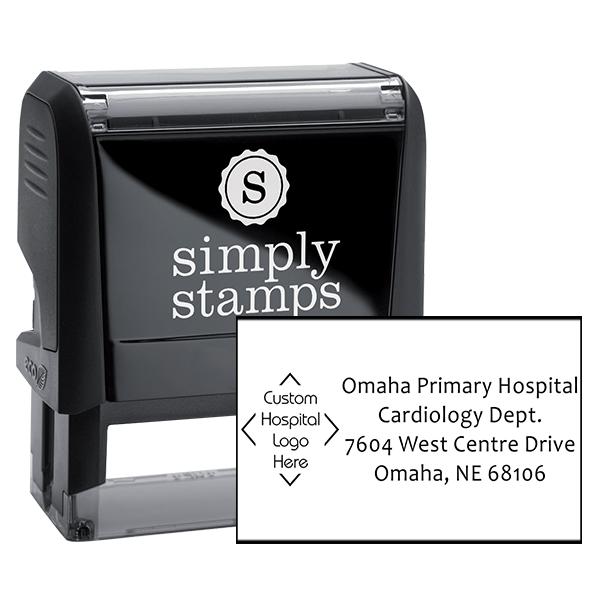 Custom Logo Hospital Address Stamp