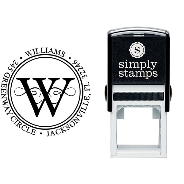 Executive Address Stamp Stamp Body and Imprint