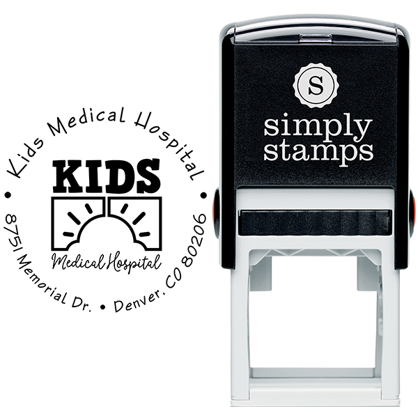 Children Hospital Custom Logo Round Address Stamp Body and Design