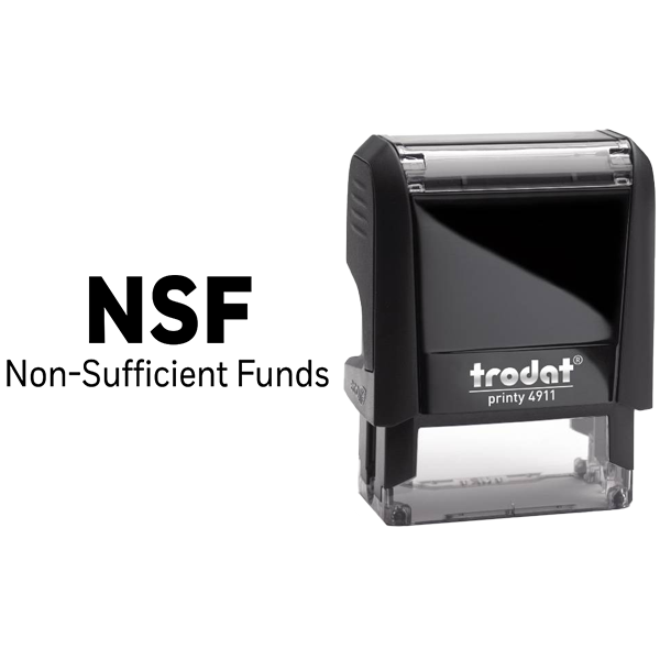 NSF Nonsufficient Funds Rubber Stamp Body and Design