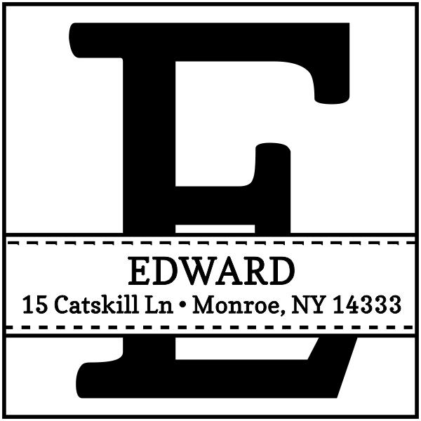 Edward Address Stamp