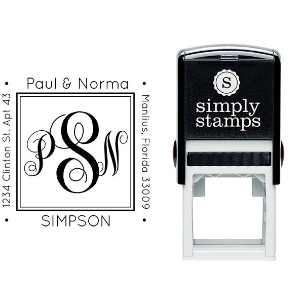 Simpson Square Address Stamp Body and Design
