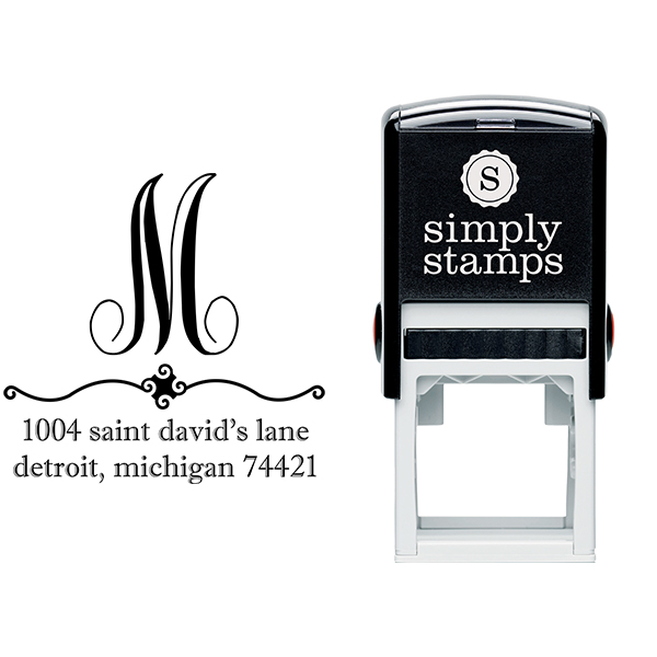 Michigan Address Stamp Body and Design