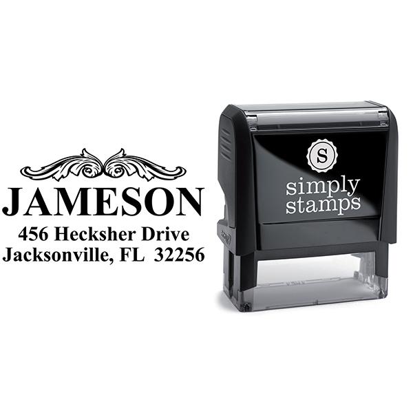 Vintage Crown Molding Custom Address Stamp Body and Design