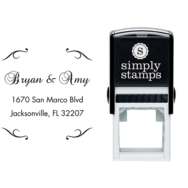 Victorian Deco Custom Address Stamp Body and Design