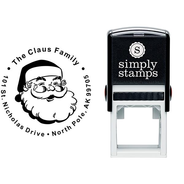 Classic Santa Custom Return Address Stamp Body and Design