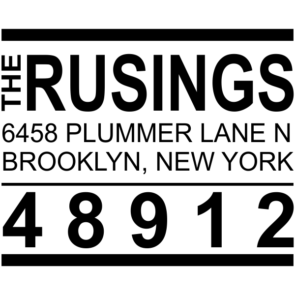 Brooklyn Block Custom Address Stamp