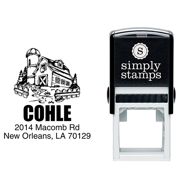 Southern Barn House Return Address Stamp Body and Design