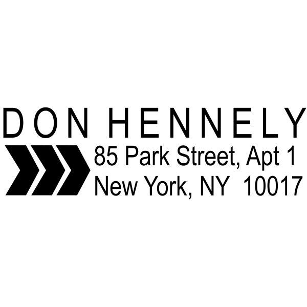 arrow Return address stamp