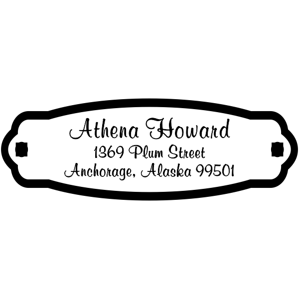 Plaque Styled Custom Address Stamp