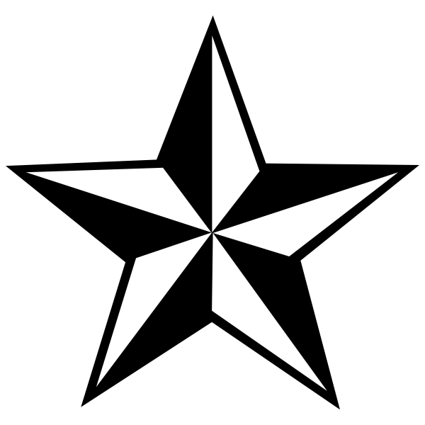Nautical Star Rubber Stamp