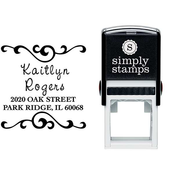 Kaitlyn Square Address Stamp Body and Design