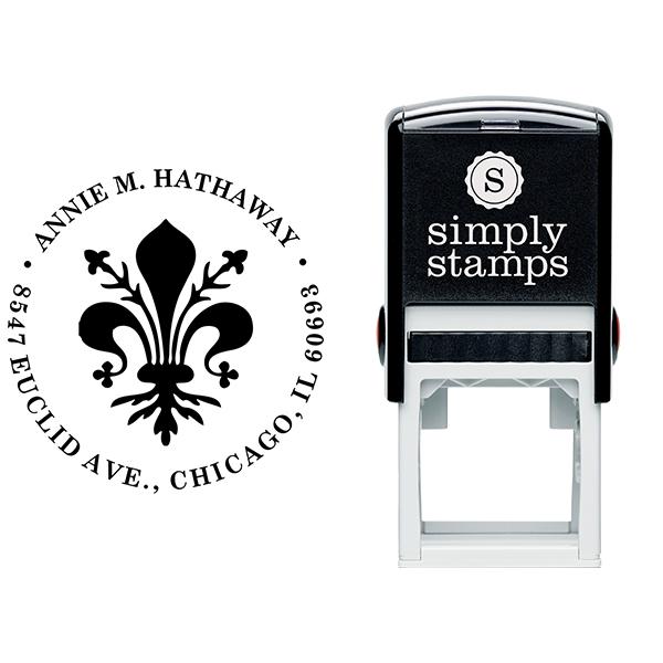 Round Deco Address Stamp Body and Design