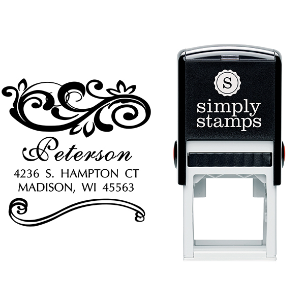 Shelley Square Address Stamp Body and Design