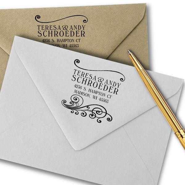 Madison Square Address Stamp Imprint Example