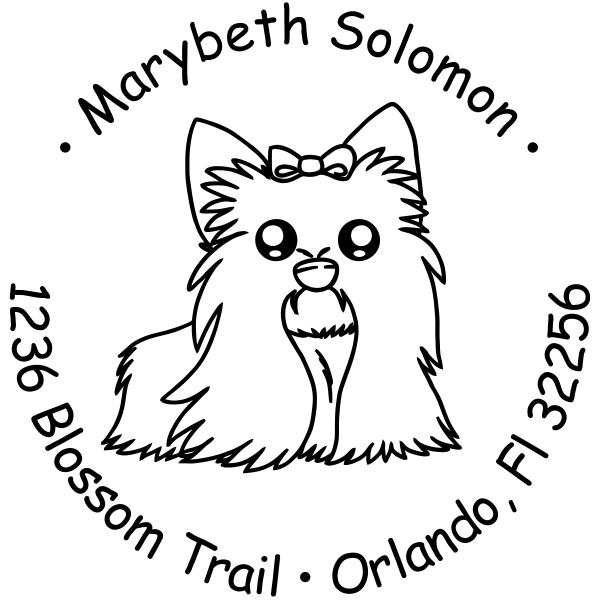 Shih Tzu Dog return address stamp