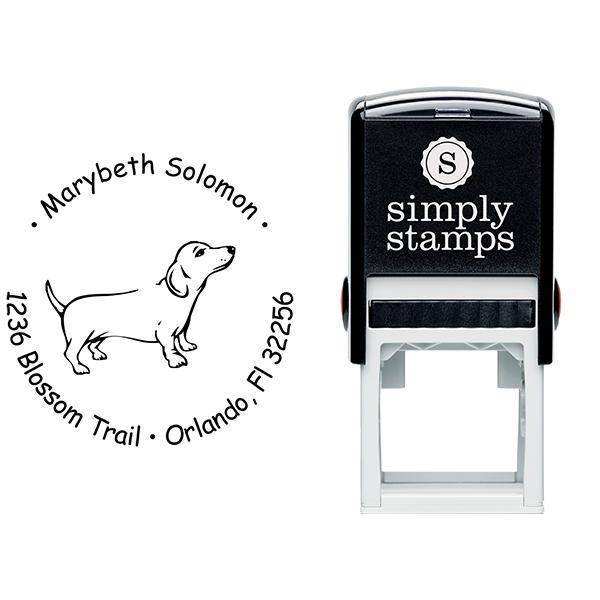 Weiner Dog Return Address Stamp Body and Design