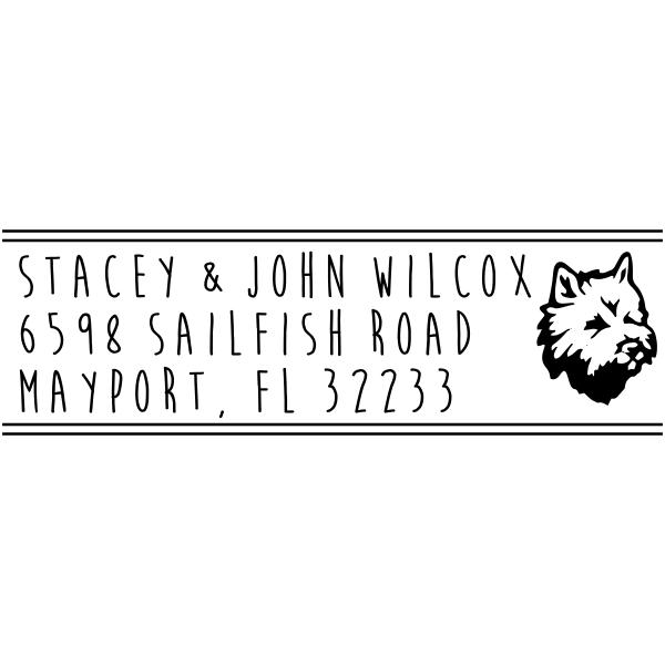 Maltese Dog Address Animal Rubber Stamp