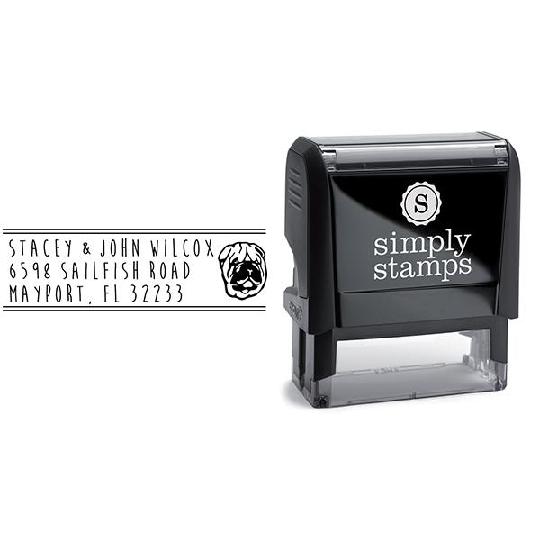 Shar-Pei Dog Address Stamp Body and Design