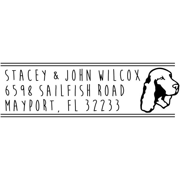 Cocker Spaniel Dog Address Stamp