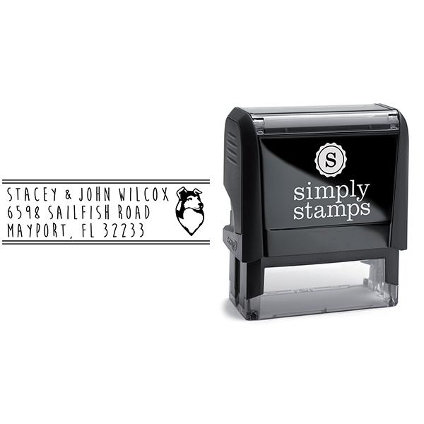 Border Collie Dog Address Stamp Body and Design