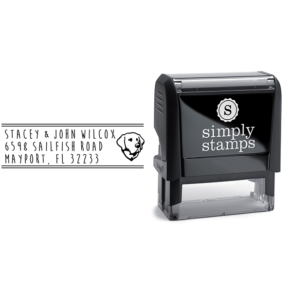 Labrador Retriever Address Stamp Body and Design