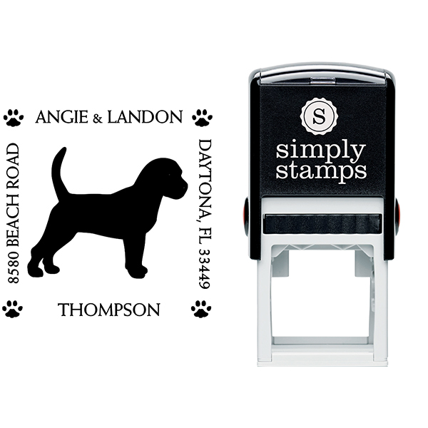 Beagle Pet Lover Dog Return Address Stamp Body and Design