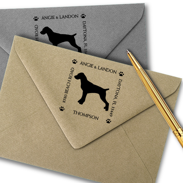 Pointer Pet Lover Dog Return Address Stamp Imprint Example
