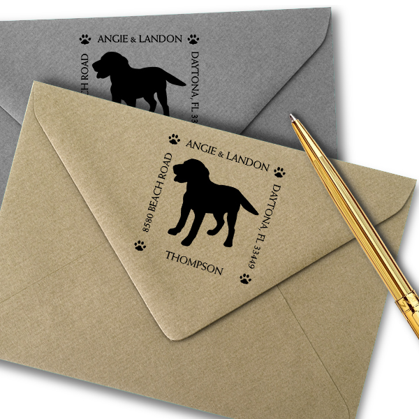 Labrador Retriever Pet Lover Dog Address Stamp Imprint Example