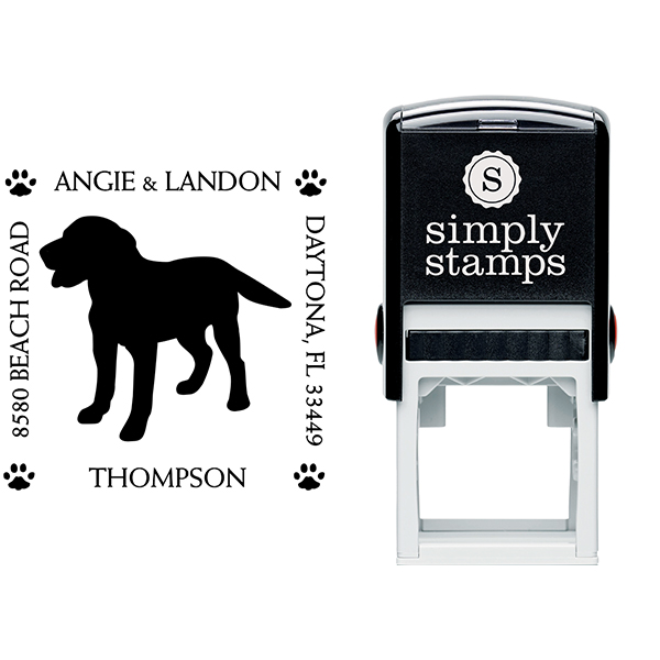 Labrador Retriever Pet Lover Dog Address Stamp Body and Design