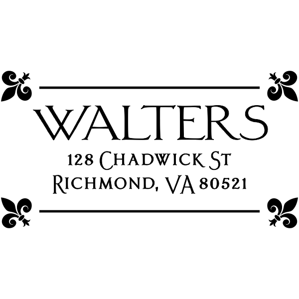 Fleur Corners Custom Address Stamper