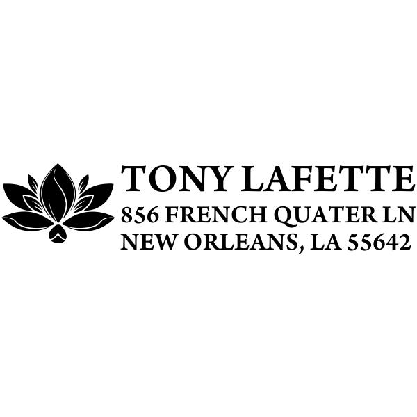 Lotus flower address stamp