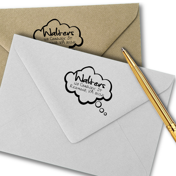 Cartoon Quote Bubble Return Address Stamp Imprint Example