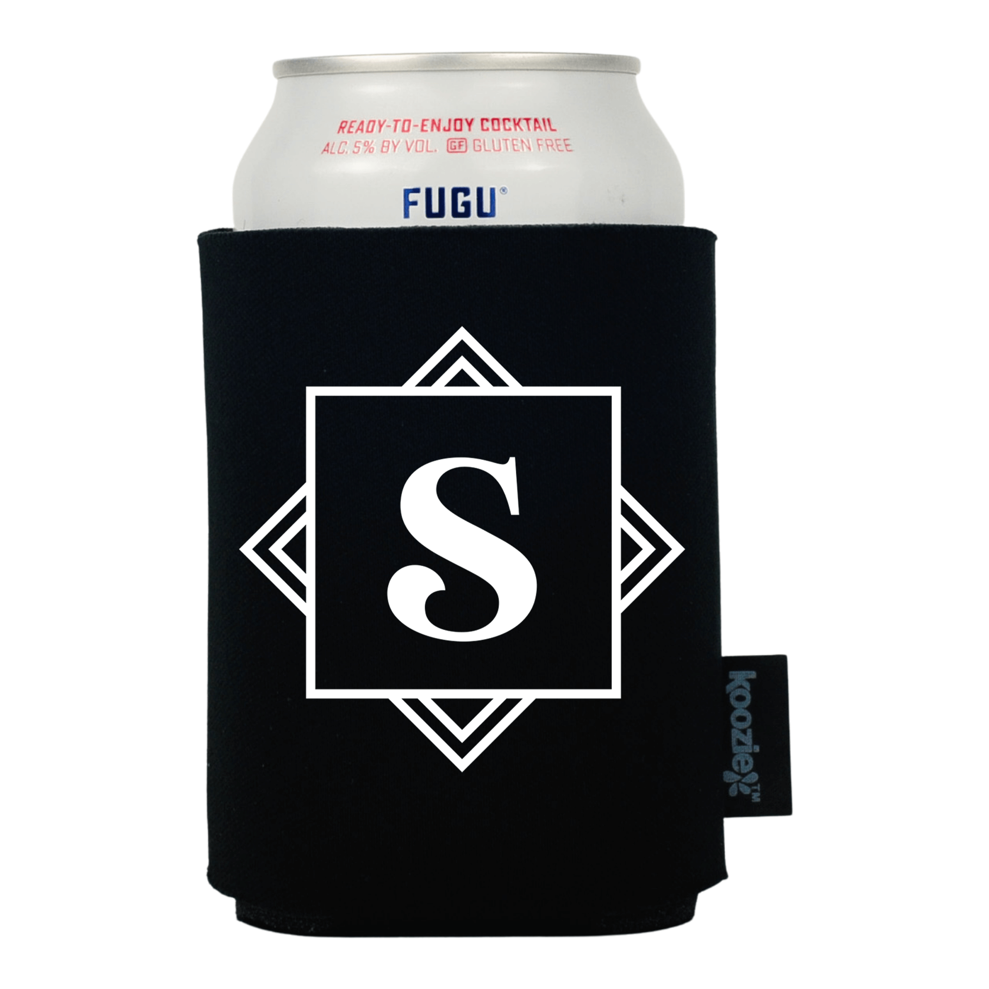 Koozie® Geometric Monogram Drink Cooler