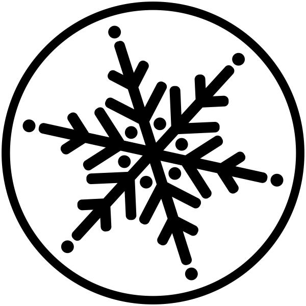 Circle Snowflake Holiday Stamp