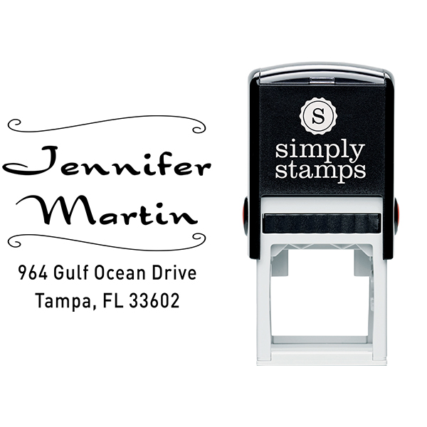 Martin Deco 4 Line Address Stamp Body and Imprint