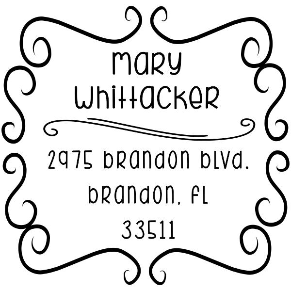 Whittaker Whimsical Return Address Stamp