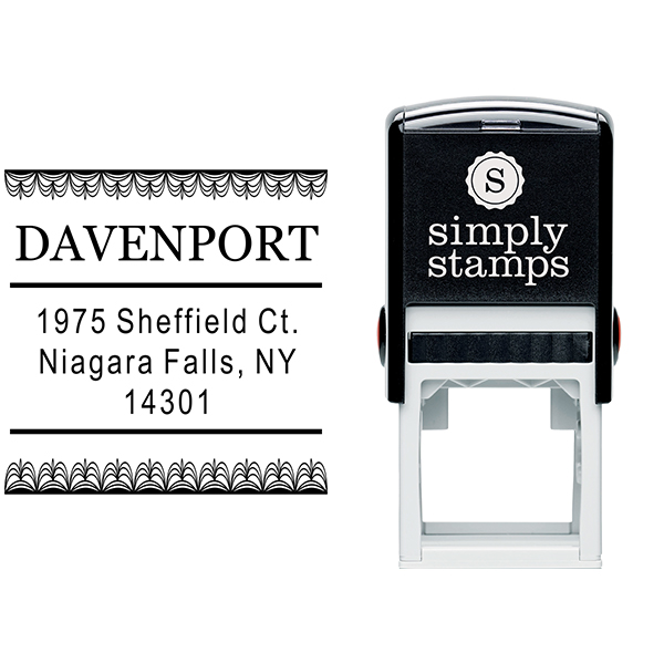 Davenport Deco Curtain Address Stamp Body and Design
