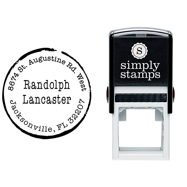 Lancaster Round Border Address Stamp Body and Design