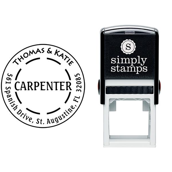 Carpenter Dash Return Address Stamp Body and Imprint