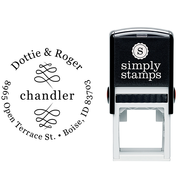 Chandler Double Deco Address Stamp Body and Imprint