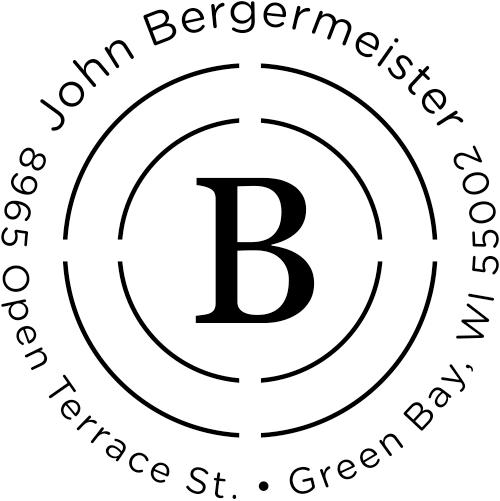 Bergermeister Orbit Return Address Stamp